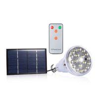 Wholesale Portable Solar Panels Sale - Top Sale Outdoor Dimmable DC 6V 20 Led Remote Control Solar Light Led Light Outdoor Garden Decoration Solar Lamp 1W Solar Panel