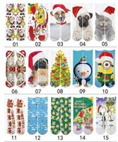 Wholesale Christmas Stocking Boxes - Wholesale Fashion Sports Kids Stockings 100pcs=50pairs 3D Printed Socks Christmas gift kids 3D Unisex Stocking festival Soft Cotton Socks
