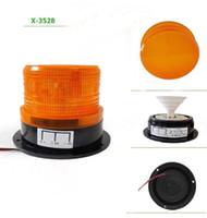 Wholesale Amber Flashing Beacon - Car Bus Beacon Strobe Emergency Warning Alarm LED Flash Light Amber DC12V 60V