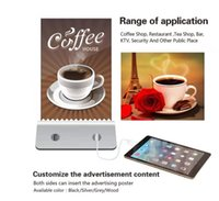 Wholesale Promotional Coffee - Table Menu Restaurant shaped 10000mah coffee shop power bank capacity bar station Mobile Phone Charger Promotional gifts Ordering Menu Hotel