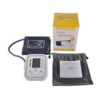 Wholesale Digital Pressure Device - Electronic Portable Digital Blood Pressure Monitor Pumps Device Apparatus For Gauge Heart Rate Medical Tonometer YR-B02B-V 0613006