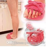 Wholesale Weight Loss Half Sole Slippers - Free Shipping New A Pair Pink Slim Slipper Half Sole Massage Shoes Weight Loss Dieting Legs Slippers