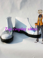 Wholesale Seeu Cosplay - Wholesale-Freeshipping Vocaloid 3 SeeU Male Suit Version PU Cosplay Shoes Version B custom-made for Halloween Christmas festival
