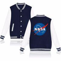 Wholesale Ladies Baseball Jackets - NASA Print Classic Baseball Jacket and The Martian Matt Damon Baseball Ladies Coats in Autumn Jacket Women Long Slim Pink free shipping