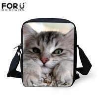 Wholesale Russian Camouflage - Wholesale- FORUDESIGNS Super Cute Women Messenger Bags Russian Cat Printed Ladies Causal Cross Body Sling Shoulder Bags Crossbody Bag 2016