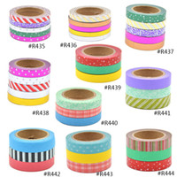 Wholesale Tape Wall Art - Wholesale-2016 Lychee Paper Tape Craft Colorful Washi Tape Set DIY Scrapbooking Decor Art Wall Paper Sticker Gift Packing Decorative
