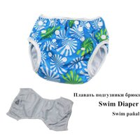 Wholesale Swimming Pants For Children - Baby Swim Nappies Adjustable Reusable Diapers For Swimming Waterproof Swim Pants For Children 0-2 Years Old Swim Nappies