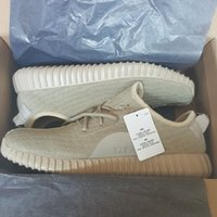 O mais popular Kanye West 350 Turtle Dove Moonrock Oxford Tan Pirate Black High Quility Cinza Shoes Right Version Running shoes Quatro cores