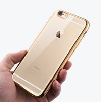 Wholesale Decorate Iphone - Plating Case For iphone 6 6s 6Plus 6sPlus Ultra Thin Clean Soft TPU Phone Cases Frame Glitter Decorated Cover