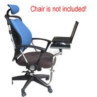 halter für laptops großhandel-BL-OK030 Multifunktionaler Full Motion Stuhl Klemmen Tastatur Unterstützung Laptop Schreibtisch Halter Mauspad für Komfortable Büro und Spiel