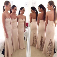 Wholesale Long Sexy Peach Bridesmaid Dresses - Peach Vintage Lace Plus Size Bridesmaids Dresses 2017 Sweetheart Sleeveless Sexy African Arabic Mermaid Long Bride Maid Gowns For Girls