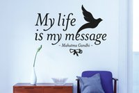 Wholesale Wall Decal Messages - My Life is My Message Quote Wall Art Decals Vinyl Wall Stickers Home Decor