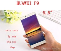 Wholesale Mini Card 4gb - New 2016 Huawei P9 Max Clone Octa core 4G phone 2Gram 16G rom Mobile Phone unlocked Dual sim card Fake 4g GPS android 6.0 5.5 inch phones