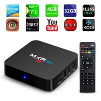 Wholesale 4gb Media Player - 6PIECE!! Newest MXR Pro 4GB RAM 32GB Flash Android 7.1 TV Box RK3328 4K Ultra HD WiFi Bluetooth Smart Media Player Better T95Z S912 S905W