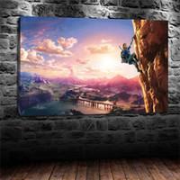 nackte leinwanddrucke großhandel-Die Legende von Zelda Breath, Home Decor HD gedruckt moderne Kunst Malerei auf Leinwand (ungerahmt / gerahmt)