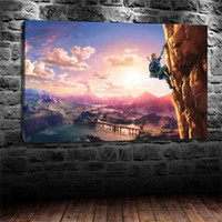 Wholesale Wild Decor - The Legend of Zelda Breath of the Wild - Climbing,Home Decor HD Printed Modern Art Painting on Canvas (Unframed Framed)