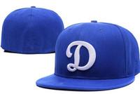 Wholesale La Dodgers Hats - New La Dodgers Hats 2016 Fitted Caps Baseball Hat Grey Blue Black Color Hat All Size Mix Match Order All Caps High Quality Hat