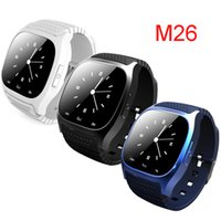 Wholesale Iphone Watches For Men - Bluetooth Smart Watches M26 for iPhone 6 6S Samsung S5 S4 Note 3 HTC Android Phone Smartwatch for Men Women DHL free OTH076
