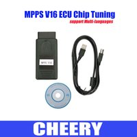 Wholesale Edc16 For Vw - Ecu chip tuning OBD2 smps MPPS V16 diagnostic interface ECU flasher for EDC15 EDC16 EDC17 inkl CHECKSUM diagnostic tool DHL free shipping