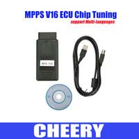 Wholesale Ecu Flasher Chip Tuning - Ecu chip tuning OBD2 smps MPPS V16 diagnostic interface ECU flasher for EDC15 EDC16 EDC17 inkl CHECKSUM diagnostic tool DHL free shipping