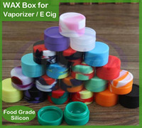 Wholesale Ego Holder Dhl - Wax Containers silicone box 5ml Nonstick Silicon container Non-stick food grade wax jars dab storage jar oil holder vaporizer EGO free DHL