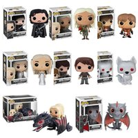 Wholesale Key Hanger Wholesale - 7 Style Funko POP Game of Thrones Jon Snow Pocket Keychain Key Ring Hanger A Song of Ice and Fire D.C Who Deadpool