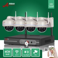 ANRAN P2P Security CCTV Plug and Play 4CH 720P Rede Wifi NVR 30 IR Vandalproof Dome Wireless IP Camera Video Surveillance System 1TB HDD