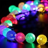 cadena exterior envío gratis al por mayor-Novedad Solar llevó las luces de Navidad al aire libre 6 m 30 Led lámpara de cadena de bola colgante de hadas jardín de la boda Garland envío gratis