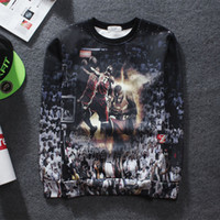Wholesale Animal Prints Images - 2017 Fall winter new 3d sweatshirt basketball star LeBron James classic lore graphic hoodie James image women men sport pullover