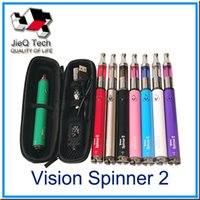 Wholesale High Voltage E Cig - 2015 Hotest E cig Vision Spinner 2 mini protank kits 1600mah variable voltage battery and 2ml mini protank atomizer high quality(0212054)