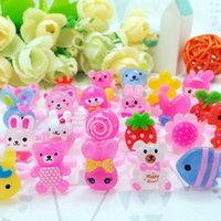 Wholesale asian mix baby for sale - 2016 Korean Handmade Jewelry Ring Ring Cute Cartoon Child Resin Baby Kids Girl Children s Cartoon Rings