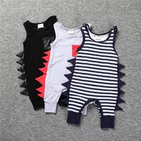 Wholesale Boys Striped Harem Pants - Baby Romper 2017 Summer Dinosaur Rompers Boy's Animal Jumpsuit Harem Pants Toddler Infant Outwear baby Clothes