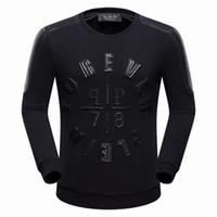 Wholesale Hoodies Leather Men - New arrive Hip Hop Tide brand Match Leather Mens Hoodie sporty Style Men Casual Hoodie Jacket P7006 M-XXXL