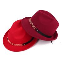 Wholesale Korean Straw Cowboy Hat - wholesale 10pcs lot Autumn winter Korean fashion chain pure woolen hat cap men women jazz lovers Hat