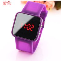Wholesale Cool Electronic Led Watch - Fashion queer students LED mirror cool children watch fashion brand high-grade electronic watches