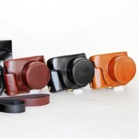 Wholesale G1x Lens - 3 Colors Choose Black Coffee Brown PU Leather Camera Bag Case Cover Fits for Canon G1X2 G1X II Camera With Single Shoulder Strap