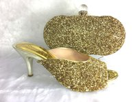 Wholesale Dress Shoes Bag - 2016 Fashion Design Sexy Shoes And Evening Bag Set Special Design Thin High Heel Shoes And Bag For Party Free Shipping HS003