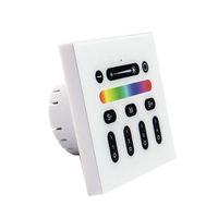 interruptor de atenuador de led remoto rf al por mayor-2.4G Controlador de LED RGBW Mi Luz Interruptor remoto inalámbrico de RF 4 Interruptores de panel de montaje en pared de zona para la serie MiLight Luces LED Bombilla