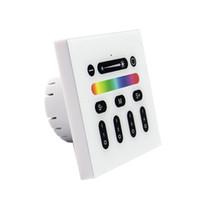 interruptor remoto sem fio ac venda por atacado-2.4G Controlador LED RGBW Mi Luz Sem Fio RF Remoto Dimmer Interruptor de 4 Zona de Montagem Na Parede Do Painel de Interruptores para a Luz Diurna Série Luzes LED lâmpada