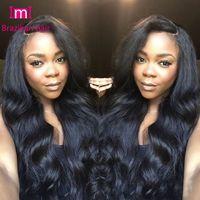 Wholesale Extra Long Lace Hair - 7A Grade Full Lace Wig Glueless Wavy 150 density no extra cost Wavy Full Lace Wig & lace front wig For African American Women