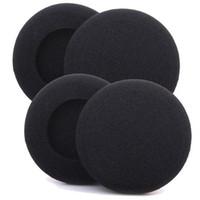 Wholesale Pad Ear - 4Pcs 5cm Replacement Soft Sponge Foam Headphones Earphone Cover Ear Pad 50mm diameter