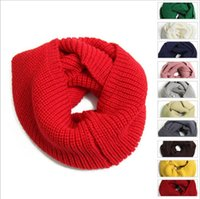 Wholesale Cable Knit Scarfs - 12 colors Women Winter Warm Infinity single Cable Knit Cowl Neck Long Scarf Shawl free shipping