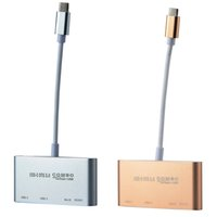 Wholesale Galaxy Hub - Type C to USB 3.0 HUB OTG Combo SD TF Card Reader For MACBOOK Samsung Galaxy S8