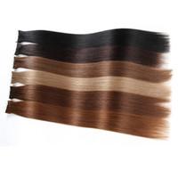 cheveux clairs de peau marron achat en gros de-trame de la peau bande dans les extensions de cheveux humain pour votre belle réduction de cheveux # 8 brun clair brésilien beauté droite produits pour les cheveux 14-24 pouces