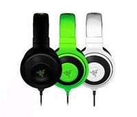 Wholesale white pro headphones - New Best Quality Cheap 3.5mm Razer Kraken Pro Gaming Headset with Wire control headphones in BOX for IOS Android system most popular DHL