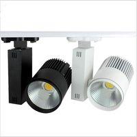 Wholesale Spotlight Led Strip - Super bright LED Track Light 20W COB Rail Light Spotlight strip Equal to 200w Halogen Lamp AC85-265V Track Lamp Rail Lamp
