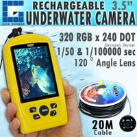 Wholesale Underwater Monitoring System - FF-3308-8 Waterproof 20M Cable Length Underwater Fishing & Inspection Camera System CMD sensor with 3.5 inch TFT RGB Monitor Fish Sea