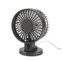 Gros-Hot! Mini portable double lame bureau de Super Mute PC portable USB Cooler petit ventilateur noir