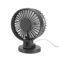 Single Fans black fan blades - Hot Mini Portable Dual Blade Desk Super Mute Laptop PC USB Cooler Small Fan black