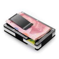 Wholesale note set - men wallets credit holder adjustable card sets business alloy wallet cards sets cash clip holder metal card pack